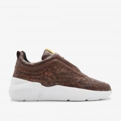 Lucy Boulder Croco | Braune Sneaker
