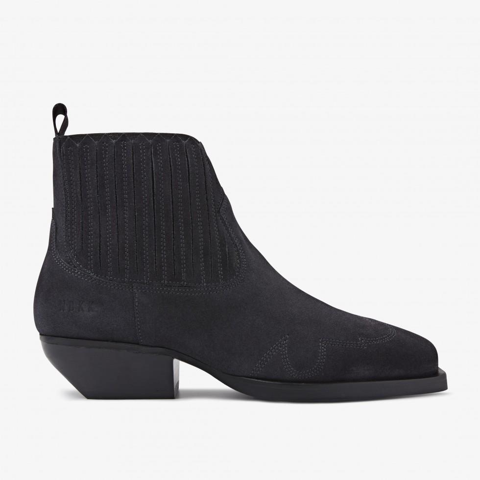 Holly Caro | Anthracite Ankle Boots