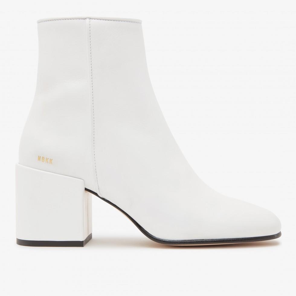 White Ankle Boots Gigi Calf Nubikk