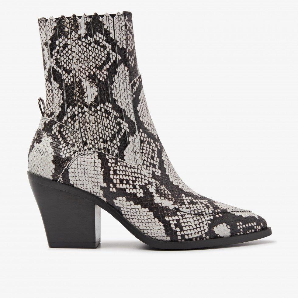 Nubikk Romee Moc Beige Snake Ankle Boots