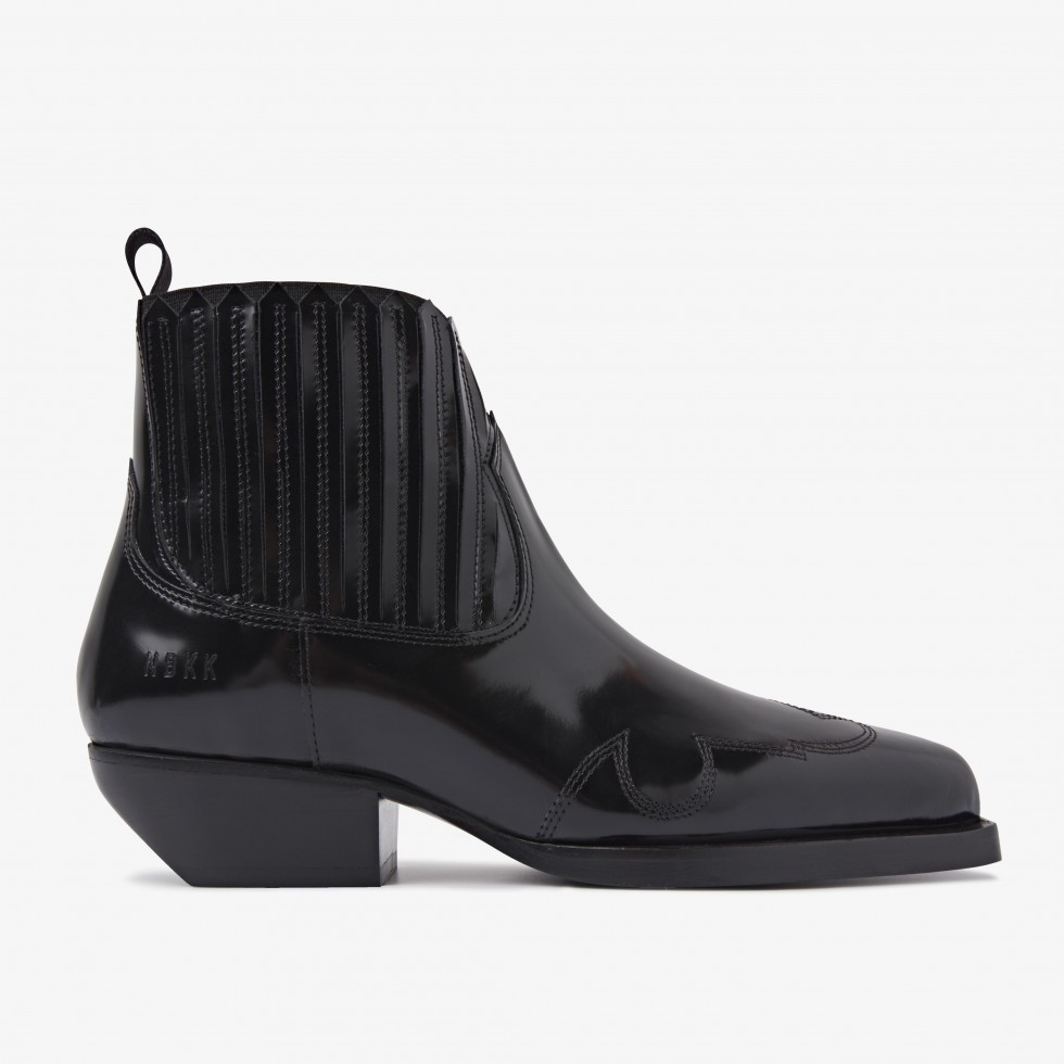 Holly Caro   Black Ankle Boots