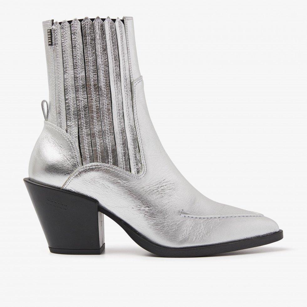 Nubikk Romee Boa Silver Ankle Boots
