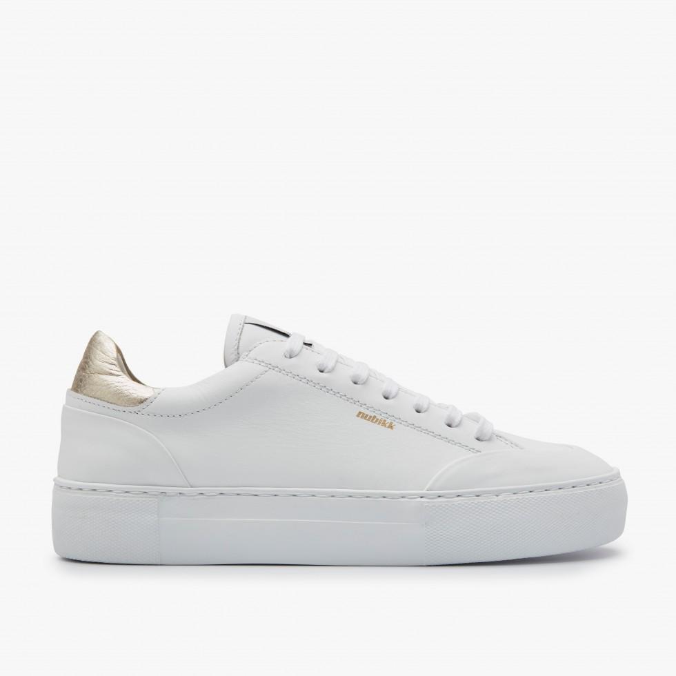 Gold White Sneakers Jolie Naya Nubikk