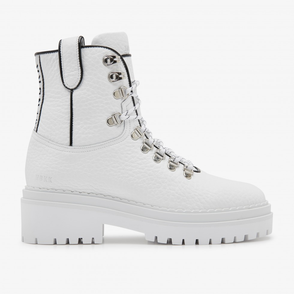 White Biker Boots Fae Roma Nubikk