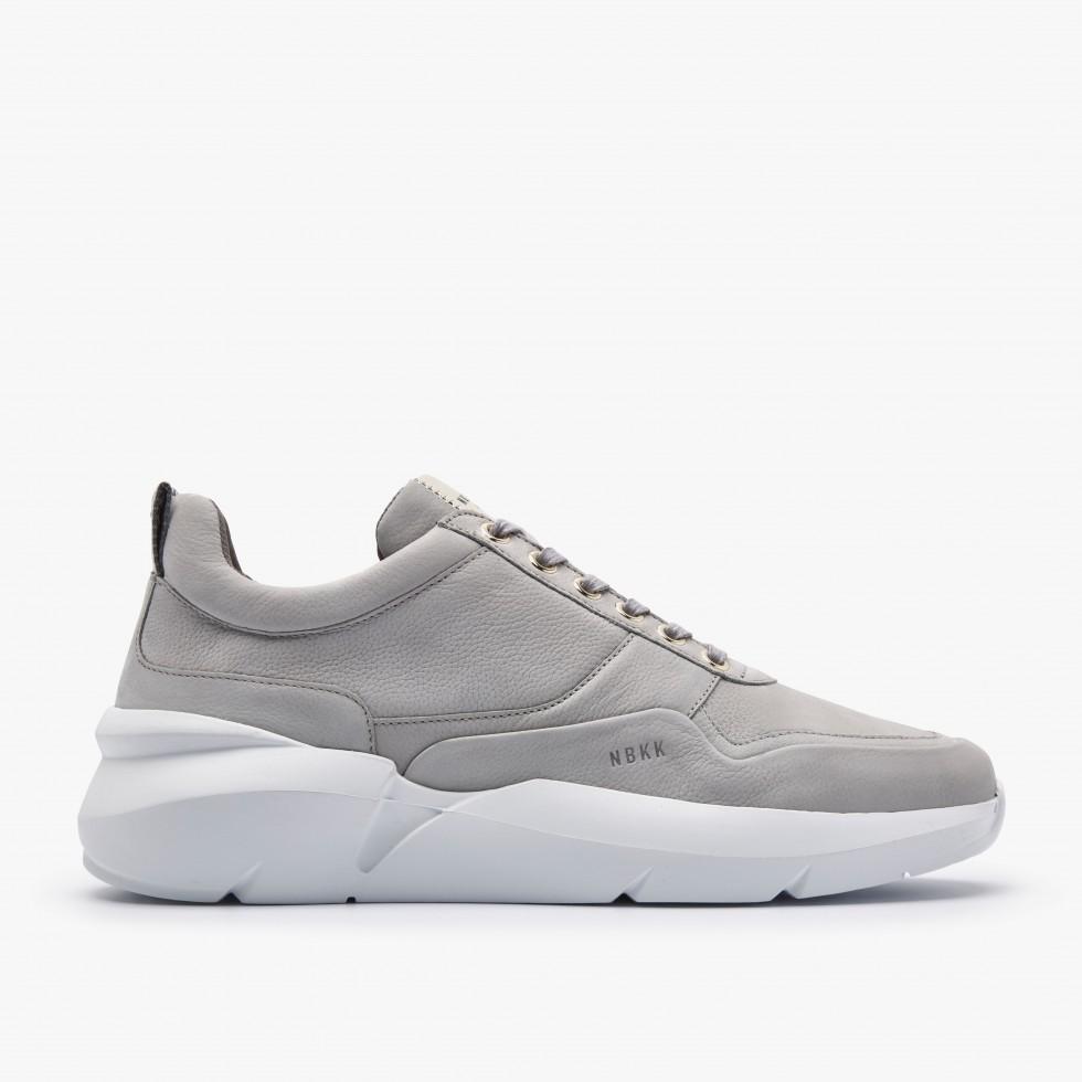 Nubikk Elven Tanuki Gold Grijze Sneakers