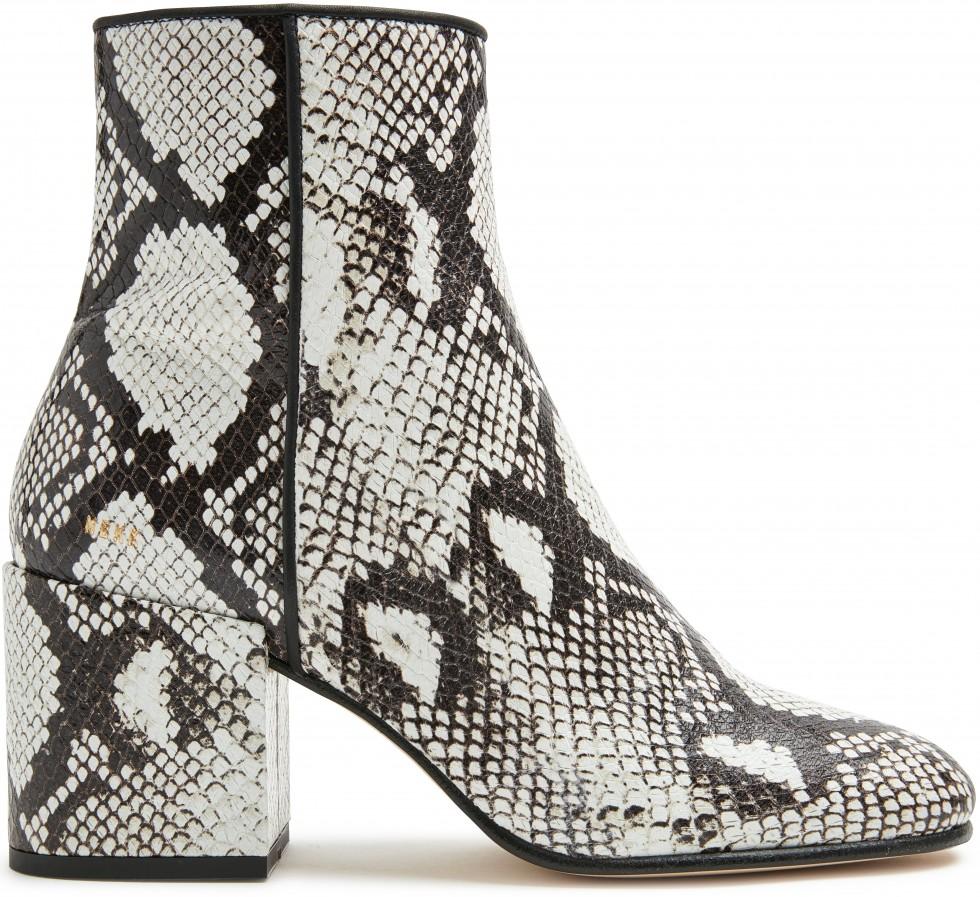 Beige Ankle Boots Gigi Python Nubikk