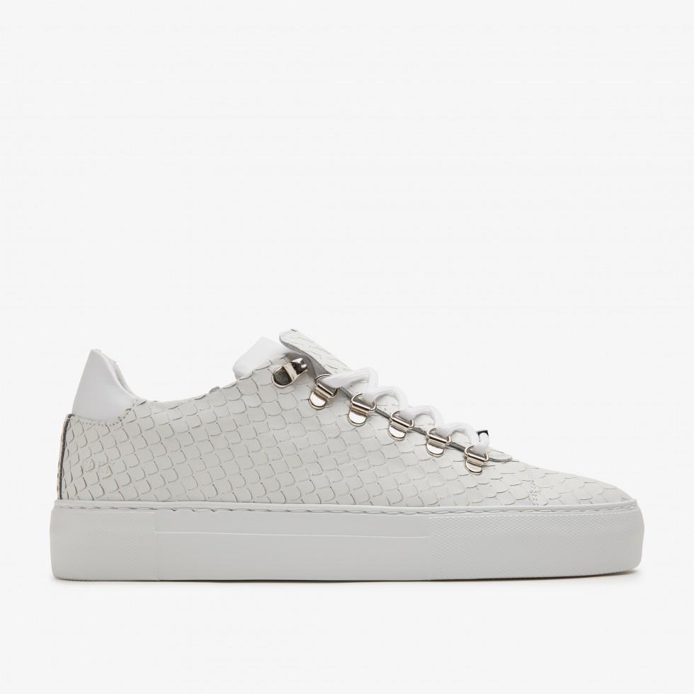 White Sneakers Jagger Python Nubikk