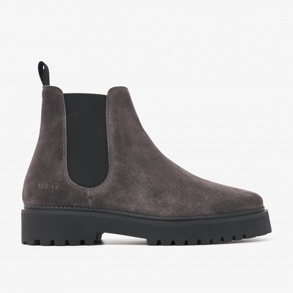 Nubikk Logan Rai Anthracite Chelsea Boots