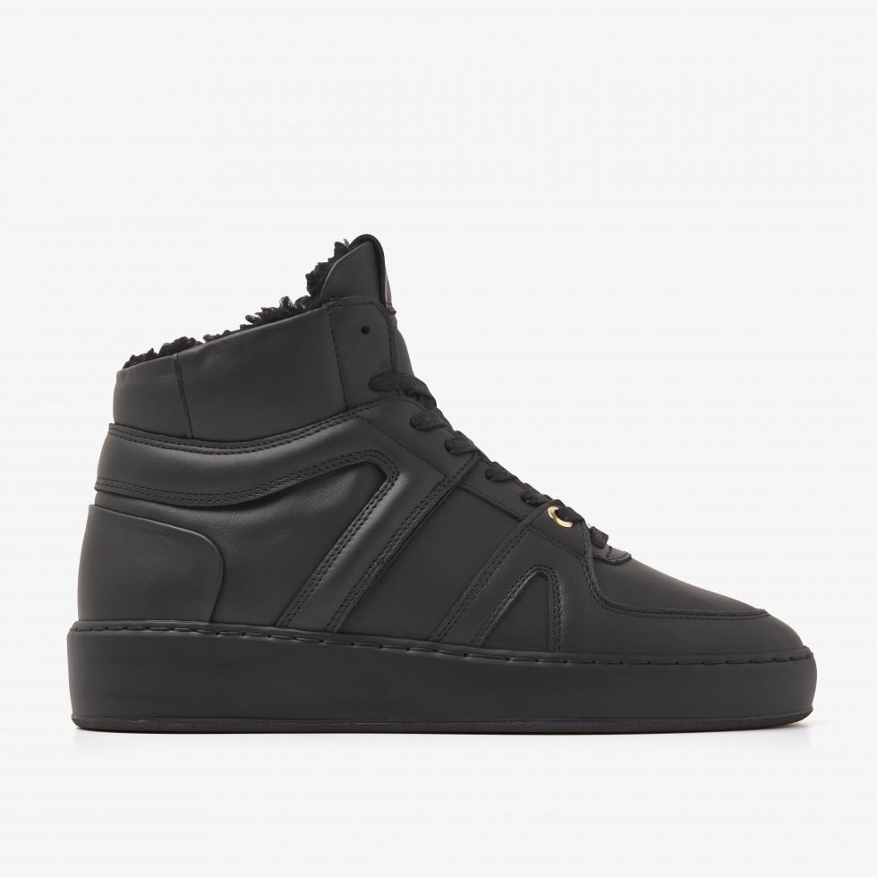 Nubikk Jiro Dunk Fur Black Raven Sneakers