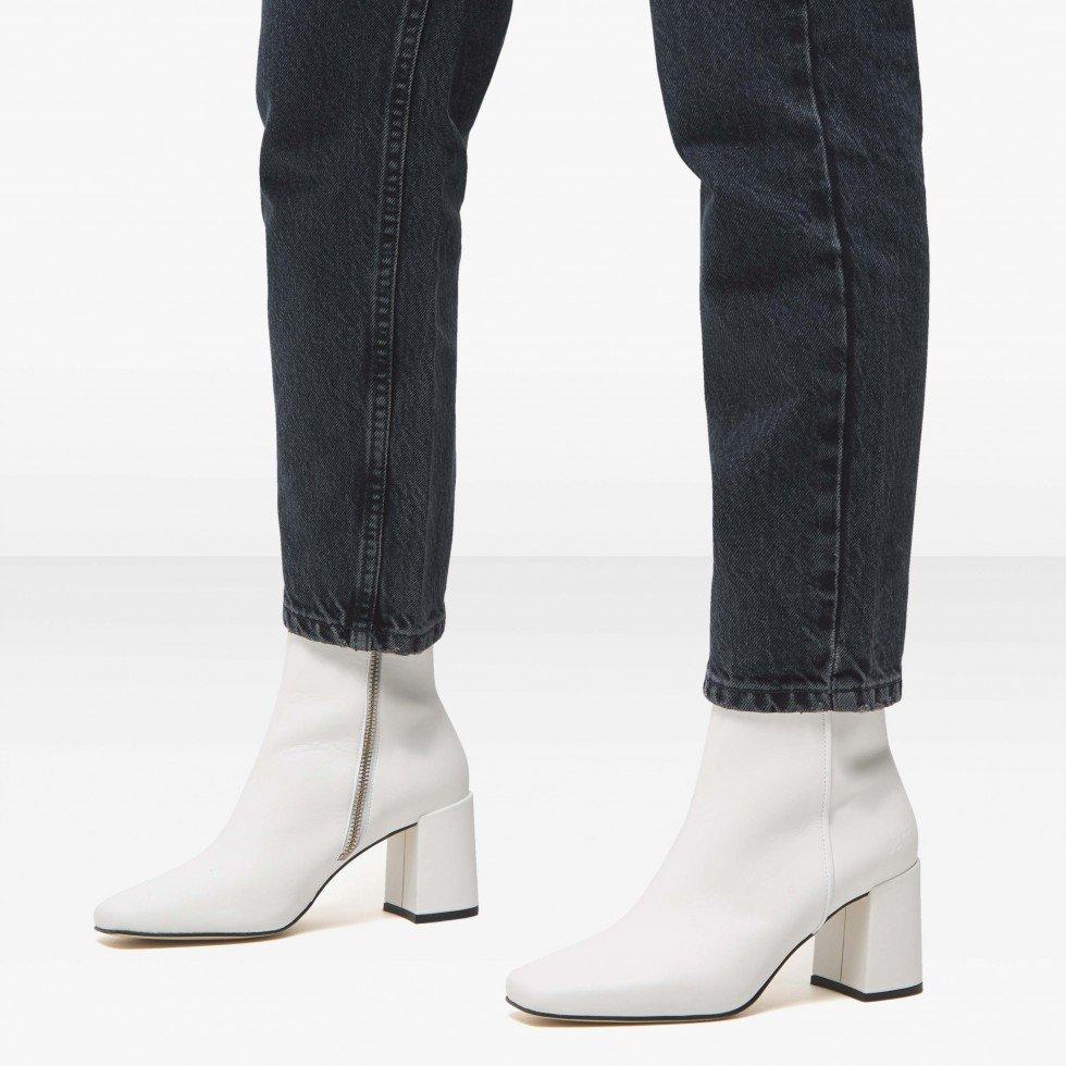 Nubikk Joy Jazzy White Ankle Boots