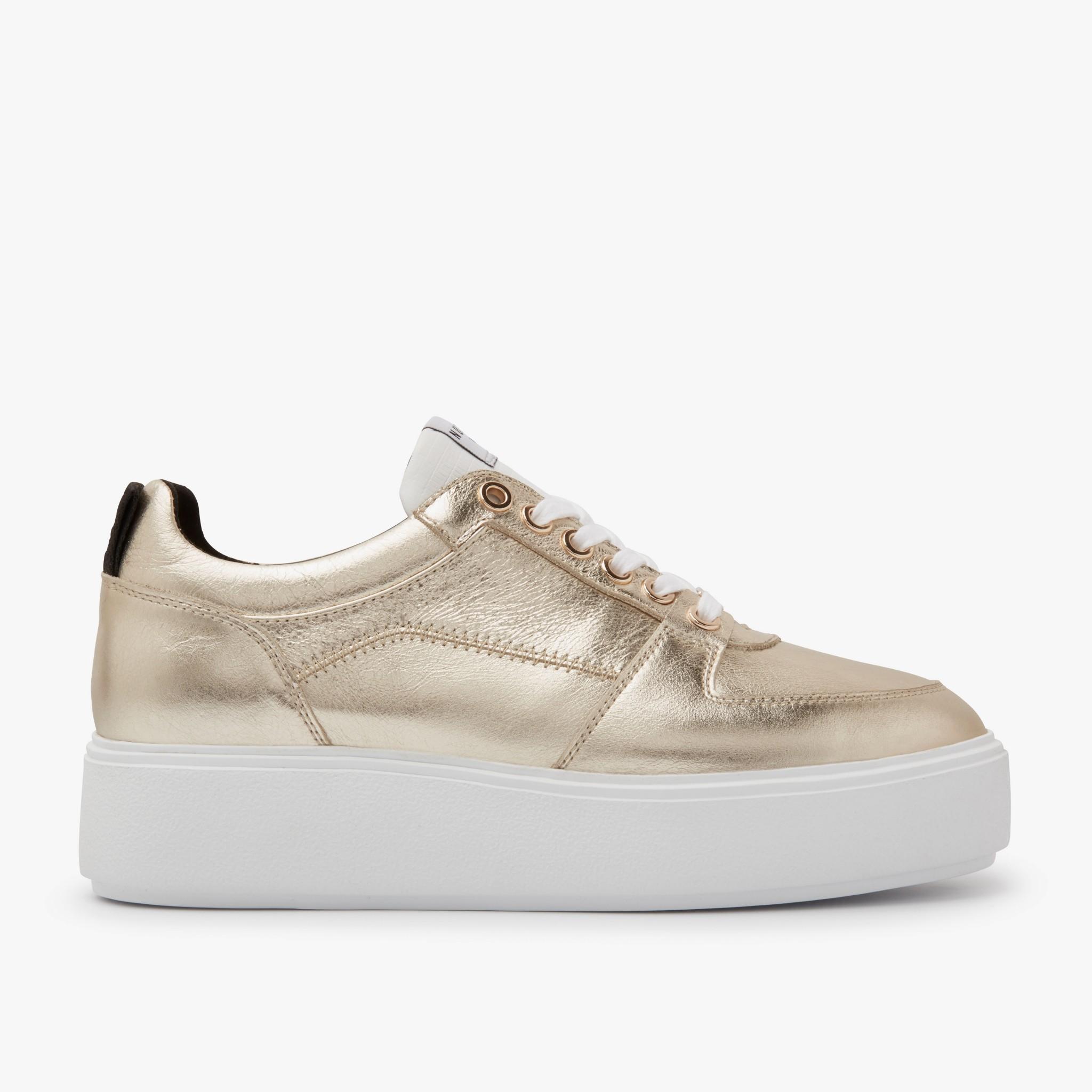 Gold Sneakers   Elise Blush   NUBIKK®   boutique en ligne officielle