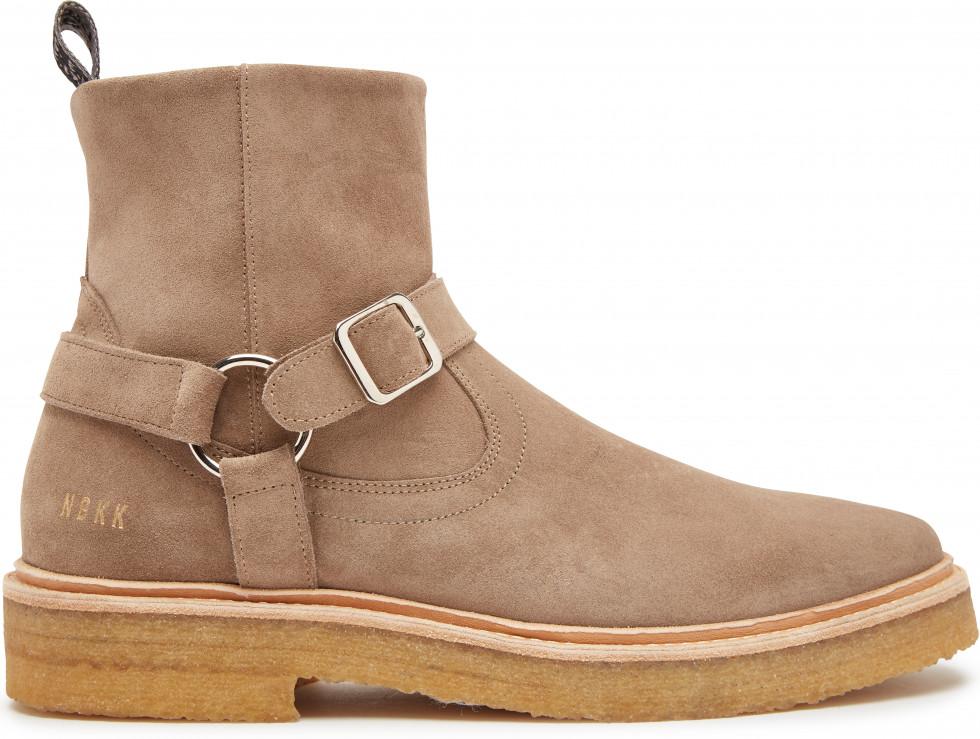 Taupe Chelsea Boots Logan Crepe Belt Nubikk