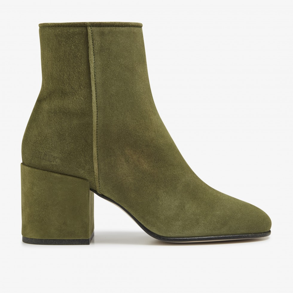 Gigi Suede | Green Ankle Boots
