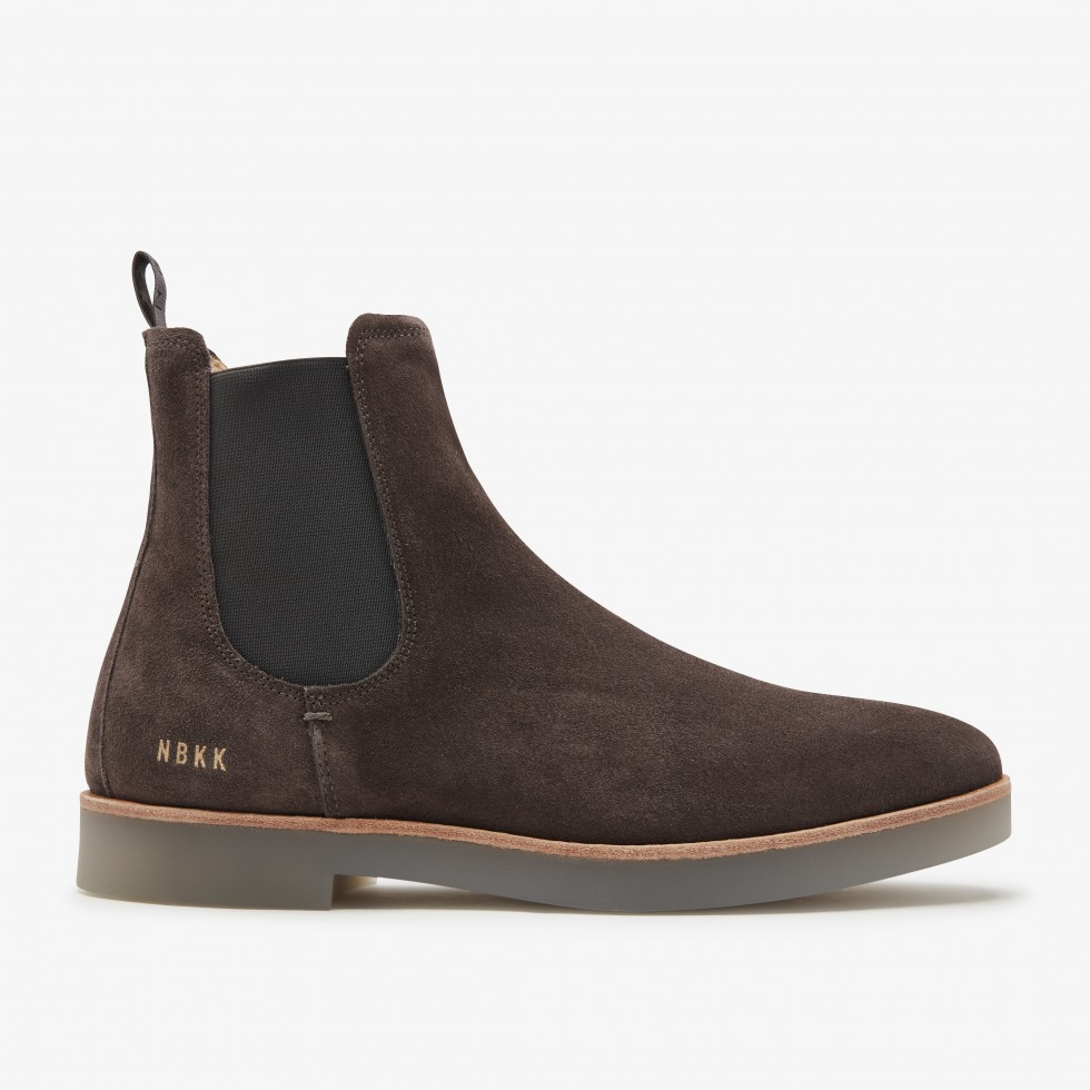 Grey Boots Logan Chelsea Nubikk