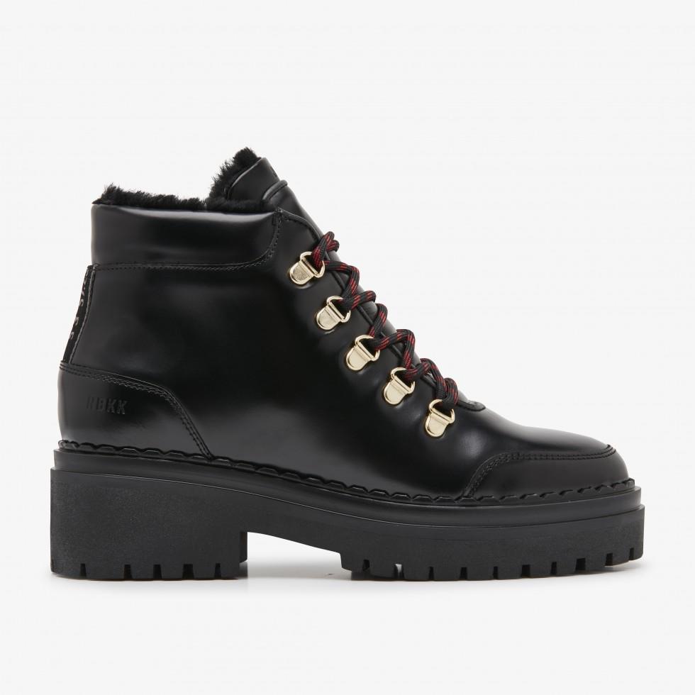 Black Biker Boots Fae Stella Fur Nubikk