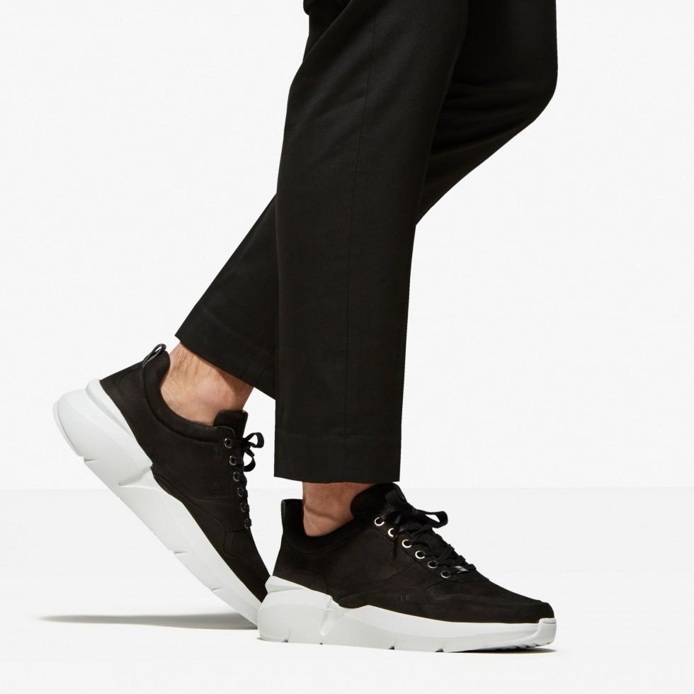 Zwarte Sneaker Elven Tanuki Nubikk
