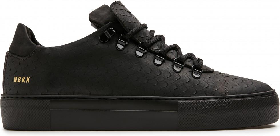 Zwarte Sneaker Jagger Python Nubikk