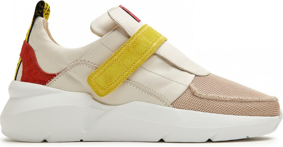 Beige Sneaker Lucy Royal Strap Nubikk