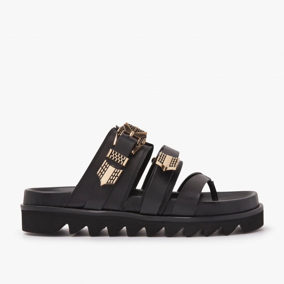 Lauren Taro | Black Sandals